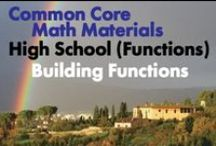 CCHS (Func): Building Functions / Common Core High School (Functions): Building Functions. Great teaching resources that help students: Build a function that models a relationship between two quantities. 2)Build new functions from existing functions. 3)