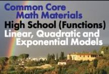 CCHS (Func): Linear, Quadratic and Exponential Models / Common Core High School (Functions): Linear, Quadratic and Exponential Models. Great teaching resources that help students 1) Construct and compare linear, quadratic, and exponential models and solve problems. 2) Interpret expressions for functions in terms of the situation they model.