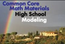 CCHS (Modeling) / Common Core High School (Modeling). Great teaching resources that help students choose and use appropriate mathematics and statistics to analyze empirical situations in order to understand them better.