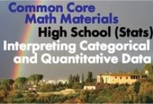 CCHS (Stat): Interpreting Categorical and Quantitative Data / Common Core High School (Statistics and Probability): Interpreting Categorical and Quantitative Data. Great teaching resources that help students 1)Summarize, represent, and interpret data on a single count or measurement variable. 2) Summarize, represent, and interpret data on two categorical and quantitative variables. 3) Interpret linear models.