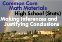 CCHS (Stat): Making Inferences and Justifying Conclusions / Common Core High School (Statistics and Probability): Making Inferences and Justifying Conclusions. Great teaching resources that help students 1) Understand and evaluate random processes underlying statistical experiments. 2) Make inferences and justify conclusions from sample surveys, experiments, and observational studies.
