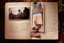 .travel journal and scrapbooking.