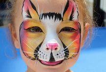 .face paint.