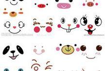 Ojos, Caritas, expresiones manualidades