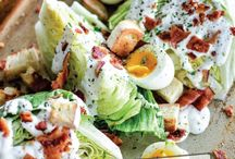 Salads / Recipes for all kind of salads and salad dressing including main dish salads ( hot & cold ), side salads , sweet salads , savory salads , salad dressings, and vinaigrettes   / by Kathleen Doan