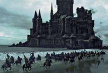 Fantasy dark landscape