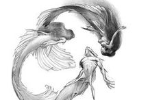 Deep Down Under / Merfolks, Sea Creatures, Digital Art Fantasy