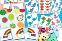 Kids Activity ~ Printables / Printables for children or toddlers to learn, play, colour, sort. Ideal for co-ordination and learning new skills. Even preschoolers and above would have fun cutting and sticking with these fun things