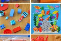 Kids ~ Busy Bags for Toddlers / Busy bags for toddlers and preschool children. Keep them entertained by a quick grab bag of learning entertainment