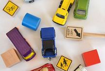Kids Activity ~ Vehicles / Activity board for Kids and toddlers who love playing with cars or trains.  Here are different ideas to explode the senses and make it a little bit more entertaining!
