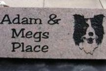 Engraved stones / Engraved stones of all types, shapes and sizes for people, pets and places!