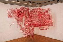 ART TEXTILES ***FIBRES / Lin - Laine - soie - tissage - broderie - ect...... / by Liliane de Kerangal