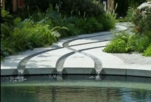 Water Features - Garden Stress Relievers / Just the sound of water can sooth your stress away.  For the little effort some of them can take to set up they are well worth investing in.  Add some natural zen to your life with one of these water feature ideas. Go on, you know you deserve it!  Follow me and my boards... PinboardQueen :0)