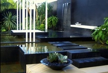 Water Features For The Contemporary Home / Water features are being brought indoors to add calm to an interior space. Enjoy the sound of trickling water and allow your stress to melt away.  I take time to create amazing boards for your enjoyment. Please show me your appreciation by following me and my boards!