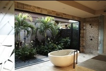 Outdoor Bathrooms - Ditch the Shower Cubicle / What could be natural than a private shower in a sacred garden inspired space?  Ditch the shower cubicle and get out with nature using one of these outdoor bathroom designs as inspiration.  I take time to create amazing boards for your enjoyment. Please show me your appreciation by following me and my boards!