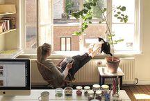 Working Spaces / Arbeitsplätze und Arbeitszimmer