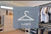Closets / Make your dream closets a reality with On Point Custom Homes.