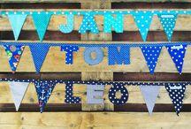 Für Kinder - meine Arbeiten / Namensketten, Buntings, Kissen mit Namen, Babyquilts, Kinderdecken, Girlanden