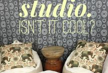 Creativity Lounge / Beautiful inspiration for creating in the video-podcasting lounge