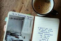 Art Journals / Künstler-Tagebücher, Kalligrafie und Illustrationen