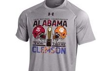 2015-2016 College Football Postseason / Congratulations to the Michigan State Spartans, Alabama Crimson Tide, Oklahoma Sooners, and Clemson Tigers for being chosen to compete in the 2016 College Football Playoff. Also, to the Iowa Hawkeyes who will be facing off against the Stanford Cardinal in the 2016 Rose Bowl game. Get your gear now and cheer in style on game day!