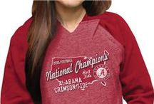 2015-2016 College Football Champions / Congratulations Alabama Crimson Tide on clinching your 16th National Title and first College Football Playoff Championship!  Shop championship gear now with code ROLLTIDE for 16% off in honor of their 16 National Titles!