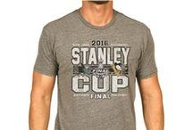 2016 NHL Stanley Cup Playoff Finals Gear / It's the 2016 Stanley Cup Playoff Finals featuring the three-time Stanley Cup Champion Pittsburgh Penguins taking on first-time Western Conference Champions San Jose Sharks!  Shop your dueling gear now at www.sportingup.com!