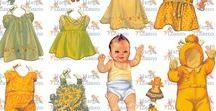 LOUISE RUMELY. PAPER DOLLS / Louise Rumely es una de las ilustradoras que ha dado a la ilustración de bebés la categoría de arte. Me encanta ordenar las muñecas en láminas, ya que siempre vienen en preciosos libros con toda la ropa mezclada, así se ve mejor los vestidos de cada muñeca
