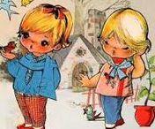 FRANCISCA GALLARDA GARÓS / Francisca Gallarda es una de las ilustradoras mas genuinas de los años 60 en España, y creo las muñecas recortables con las que jugamos millones de niñas... siempre la estaremos agradecidas por la dulzura con la que llenó nuestros juegos