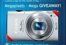 Win with Worth- May Giveaway! / Megapixles, mega GIVEAWAY!  http://www.worthavegroup.com/camera-giveaway/