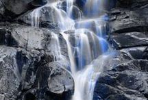 Rivers, Rocks, and Waterfalls / Soothing streams and rocks.