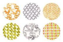 Mintatervek . Pattern design / Válogatás Dekoratőr képzésünkre járó hallgatók munkáiból. Works of students in Decoration Department.