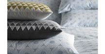 Niki Jones Bedding / A sophisticated bed linen with an emphasis on design detail and quality.  Niki is inspired by ancient geometric motifs, reinterpreting them in her own signature style. Her designs are utterly contemporary yet have their roots firmly in the past, giving them a timeless and classical feel.