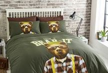 #Bedding / Set the trend with a collection of contemporary designs incorporating photographic prints, bright colours and textured imagery.