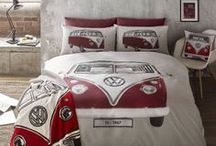 Volkswagen Bedding / The iconic Volkswagen Campervan is shown off in all its glory with our range of bedding.