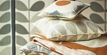 Orla Kiely House / Bring colour and pattern to any room with Orla's readymade curtains, fabrics and bedding.  Bold graphic scales and bright colours, these designs for your home are  both retro and modern at the same time.