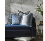 KAI Cushions / KAI is delighted to launch a stunning range of cushions, offering a diverse selection of some of the best selling fabrics from KAI. The range incorporates luxurious velvets, striking digital prints, metallic embroideries and decorative woven designs. Handmade in the UK and filled with the best quality feather pads, the KAI cushions will inject  trend led design into your home.
