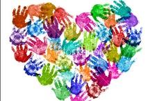 Manitas y piececitos / Especialmente para hacer con pinturas de manos.