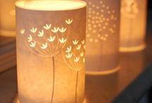 Dim light candles