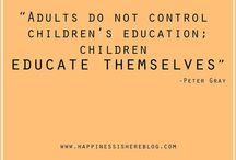 Learning & education; how children learn / Take control of your education. Learning through play.