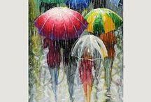 "WATER WATER  EVERYWHERE..I.E..RAIN--SNOW--MIST & HAIL / POETICALLY CALLED:  ""SKY DROPS"".....MOISTURE CONTENTS.....ALL THINGS BEAUTIFUL & LIQUID...A MUST FOR EARTH'S GROWTH.....WE LOVE YOU DEAR RAIN...ccp / by Carmeletta Paulsen"