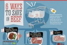 Beef Bargains / This board will guide you through the tricks of the trade in beef...saving money in your grocery budget.