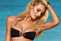 """Beachwear / """"Women shop for a bikini with more care than they do a husband. The rules are the same. Look for something you'll feel comfortable wearing. Allow for room to grow."""" - Erma Bombeck (American novelist, columnist)"""