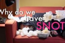 The Science of Snot / Videos and articles from MIT for use in the classroom to learn about the amazing science of snot!