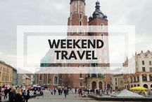 Weekend Travel / Travel tips and inspiration for weekends away. For part-time travellers like me!