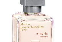 Amyris Femme (Maison Francis Kurkdjian) / A floral, woody and luminous eau de parfum inspired from the encounter between Amyris, a tree born under the Jamaican sun and Iris, the subtlest of Florentine flower. Together they kindle a flame, a flame that never dies.