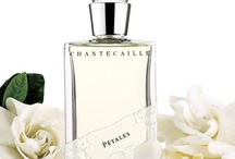 Pétales Perfume (Chantecaille) / A botanical dance with thousands of Gardenias.  Inspired by Sylvie Chantecaille's deep love for Gardenias.  A classically romantic white floral fragrance, an elegant couture signature.