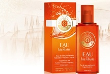 Eau des Bienfaits (Roger & Gallet) / A worthy heir to the famous Jean Marie Farina Eau de Cologne, Eau des bienfaits is the fruit of Roger & Gallet's unique perfumer apothecary expertise and combines a stimulating fragrance of essential oils and an active bodycare formula packed with natural active ingredients that hydrate and soften the skin. As refreshing, joyful and invigorating as the water cascading from a waterfall,  it stimulates the mind and pampers the skin from head to toe.