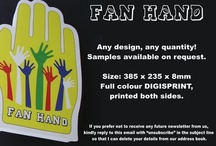 FAN HANDS (trademark) / Fan Hands are ideal for sports events and can be custom printed.