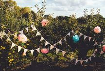 Bunting! Ideas and inspiration for custom made bunting / We have beautiful bunting to hire or buy - using upcycled fabric wherever possible :-) check out our website chicncheerful.co.uk #bunting